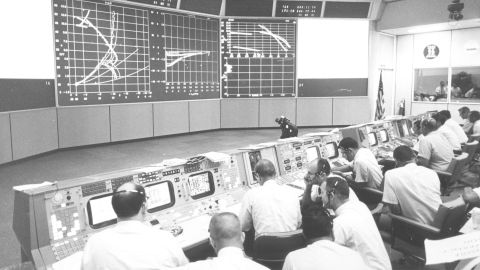 A view of Mission Control.
