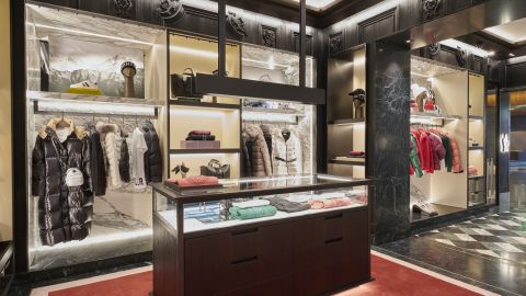 Moncler opened an airport store in Zurich, Switzerland, last week.
