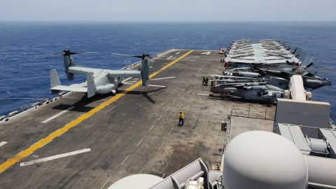 The USS Boxer's flight deck covers 2.2 acres. On the flight deck and inside its belly, the vessel carries the following aircrafts: the Harrier, the Osprey, the Sea Hawk, the Sea Stallion. The ship is designed to accommodate landing aircarft and air cushions for fast troop movements.