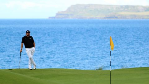 Shane Lowry set a course record for the updated Dunluce course of 63 Saturday.