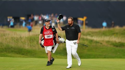 Shane Lowry was serenaded as he walked on to the 18th green.