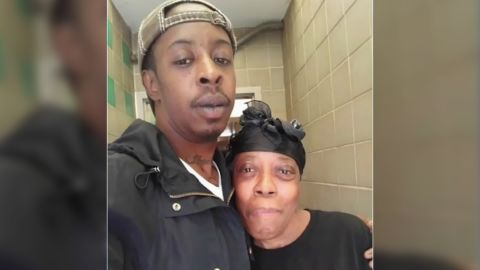 Jermaine and his mother.