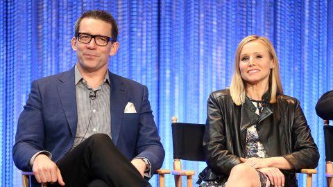 Creator/Executive Producer Rob Thomas with 'Veronica Mars' star Kristen Bell