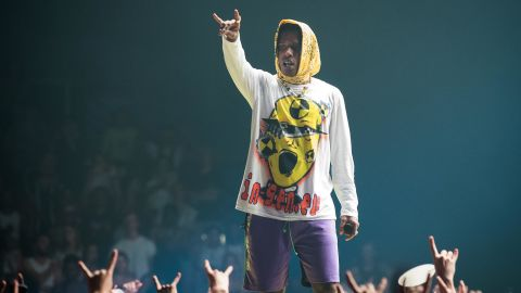 A$AP Rocky performs at Le Zenith in Paris on June 27, 2019.