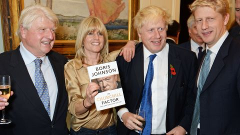 Rachel Johnson, second left, pictured with brothers Boris and Jo in 2014.