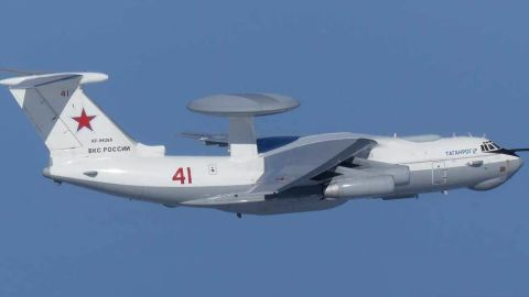 The Russian A-50 AWACS command and control aircraft that of twice violating South Korean airspace off the country's eastern coast on Tuesday morning.