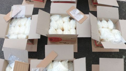 Drugs allegedly seized from a van in Sydney, Australia, on July 23, 2019.