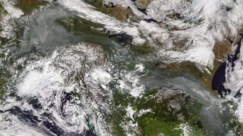 Wildfire smoke is spreading from Alaska across parts of Canada.