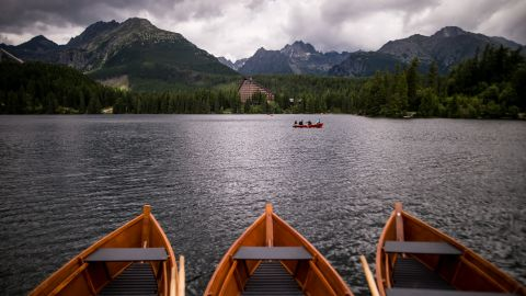 <strong>High Tatras, Slovakia: </strong>Štrbské Pleso lake lies on the Slovak side of the High Tatras mountains, at a surface elevation of 1,346 meters.