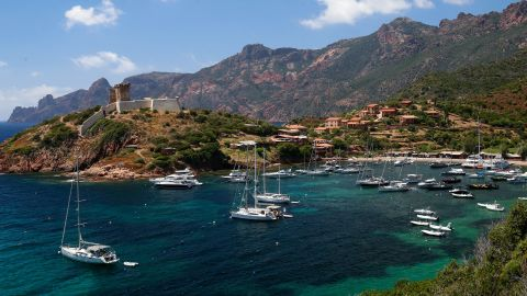 <strong>Scandola Nature Reserve, Corsica:</strong> On the French island of Corsica, the 16th-century Genoese Girolata Fort sits on a rocky outcrop above the seaside village of Girolata. <br /><br />