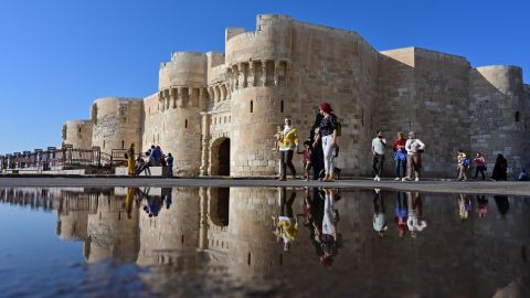 <strong>Alexandria, Egypt:</strong> The 15th-century Citadel of Qaitbay sits on the Mediterranean coastline and was built to defend Alexandria from Ottoman forces. <br />