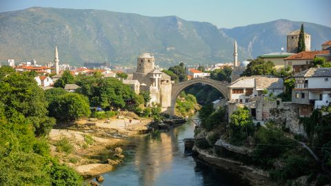<strong>Mostar, Bosnia and Herzegovina:</strong> An Ottoman frontier town, Mostar developed in the 15th and 16th centuries in a deep valley of the Neretva River.