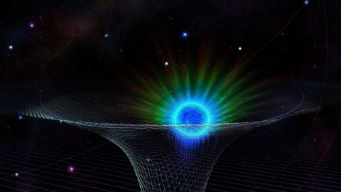 A star known as S0-2 (the blue and green object in this artist's rendering, on the left in S0-2-color-v2b) made its closest approach to the supermassive black hole at the center of the Milky Way in 2018. Andrea Ghez's research team conducted the most comprehensive test ever of Albert Einstein's theory of general relativity near this enormous black hole. Einstein's theory of general relativity is the best description of how gravity works. Ghez and her team collected data at the W.M. Keck Observatory in Hawaii.