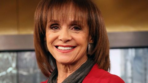 """NEW YORK, NY - APRIL 17:  Actress Valerie Harper visits """"FOX & Friends"""" at FOX Studios on April 17, 2014 in New York City.  (Photo by Monica Schipper/Getty Images)"""