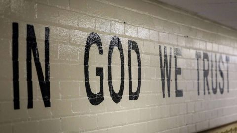 """A new state law that took effect this month requires all public schools in South Dakota to display the national motto """"In God We Trust."""""""