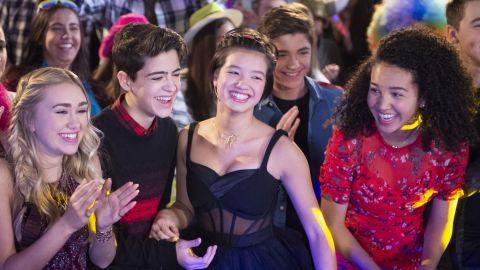Emily Skinner, Joshua Rush, Peyton Elzabeth Lee, Asher Angel and Sofia Wylie in 'Andi Mack.' (Disney Channel/Fred Hayes)