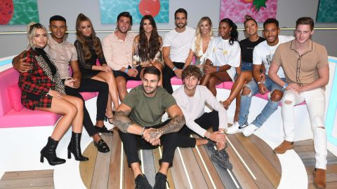 LONDON, ENGLAND - AUGUST 10:  Megan Barton Hanson, Wes Nelson, Georgia Steel, Dani Dyer, Jack Fincham, Laura Anderson, Paul Knops, Samira Mighty, Josh Denzel, Kaz Crossley and Alex George during the 'Love Island Live' photocall at ICC Auditorium on August 10, 2018 in London, England.  (Photo by Stuart C. Wilson/Getty Images)