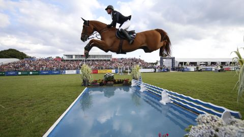 Ben Maher and Explosion W in action at Chantilly.