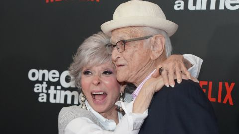 """Rita Moreno and Norman Lear attend the premiere of Netflix's """"One Day At A Time"""" in February. (Photo by Rachel Luna/Getty Images)"""