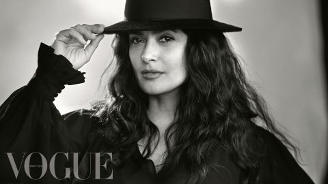 Salma Hayek collaborated with Duchess of Sussex Meghan Markle for British Vogue's September issue.