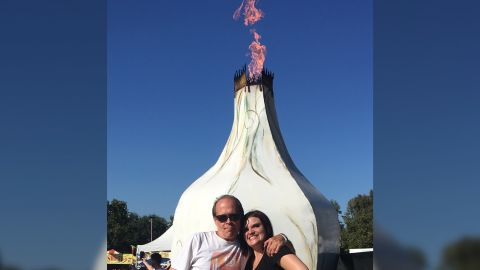 Christopher Cook and Alicia Olive at Gilroy Garlic Festival.