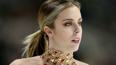 SAN JOSE, CA - JANUARY 03:  Ashley Wagner competes in the Ladies Short Program during the 2018 Prudential U.S. Figure Skating Championships at the SAP Center on January 3, 2018 in San Jose, California.  (Photo by Matthew Stockman/Getty Images)