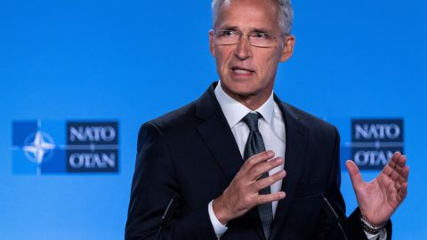 """Jens Stoltenberg called the end of the Intermediate-Range Nuclear Forces (INF) Treaty with Moscow a """"serious setback."""""""