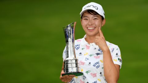 Hinako Shibuno clinched her maiden major title at the Women's British Open.