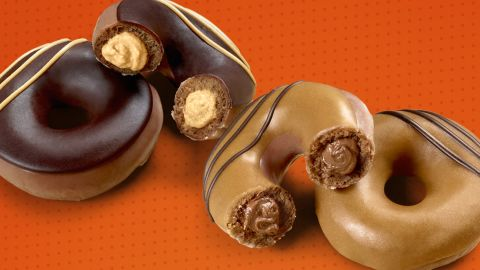 Krispy Kreme issued two new doughnut flavors in a collaboration with Reese's