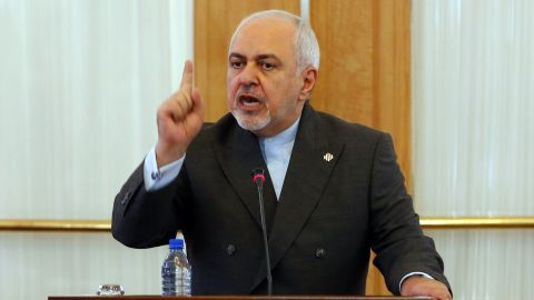 """Iranian Foreign Minister Mohammad Javad Zarif speaks during a press conference in the capital Tehran, on August 5, 2019. - The US is acting alone against Tehran and its allies are too """"ashamed"""" to join its forces in the Gulf, Zarif said today, dismissing its calls for talks as a sham. He also confirmed he turned down an offer to meet President Donald Trump last month despite the threat of US sanctions against him. (Photo by - / AFP)        (Photo credit should read -/AFP/Getty Images)"""