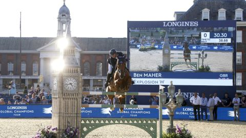 <strong>London:</strong> Winless all season, defending overall LGCT champion Ben Maher hits back with a bang on Explosion W on home soil.
