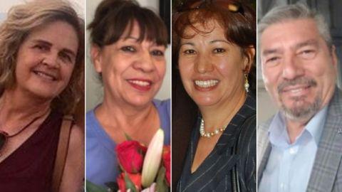 María Eugenia Legarreta Rothe, Gloria Irma Márquez, Elsa Mendoza de la Mora, Jorge Calvillo García