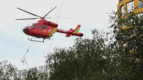 A London Air Ambulance helicopter airlifted the boy from the Tate Modern gallery on August 4, 2019.