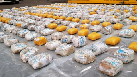 Approximately 398 kilograms of heroin was removed from the container.