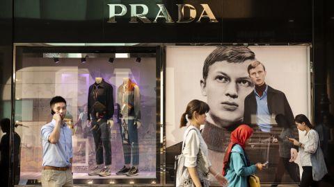 HONG KONG - 2019/04/26: Italian luxury fashion company Prada store and logo seen at Causeway Bay, Hong Kong. (Photo by Budrul Chukrut/SOPA Images/LightRocket via Getty Images)