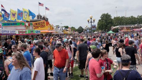 More than 100,000 people attended the fair on Saturday.
