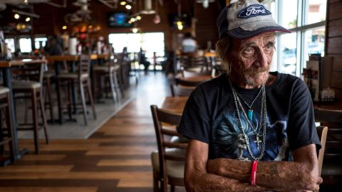 Antonio Basco recounts his life with his wife Margie Reckard, 63, who was killed in the August 3 mass shooting in El Paso, in El Paso, Texas, on Wednesday, August 14, 2019.
