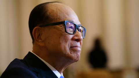 Li Ka-shing, chairman of CK Hutchison Holdings Ltd. and CK Asset Holdings Ltd., listens during an exclusive interview with Caixin Media at Cheung Kong Center on March 12, 2018 in Hong Kong, China.