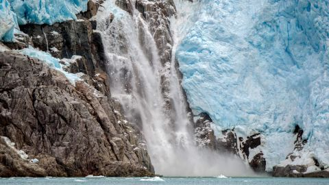 The Santa Ines glacier in southern Chile.