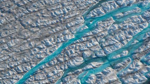 The Greenland ice sheet near Sermeq Avangnardleq glacier.