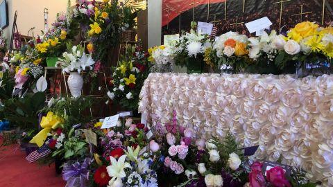Hundreds of flower arrangements have been sent to Margie Reckard's funeral in El Paso, Texas.