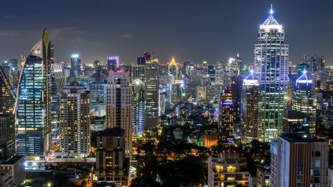 <strong>Bangkok</strong>: The Thailand capital glitters on an August night.