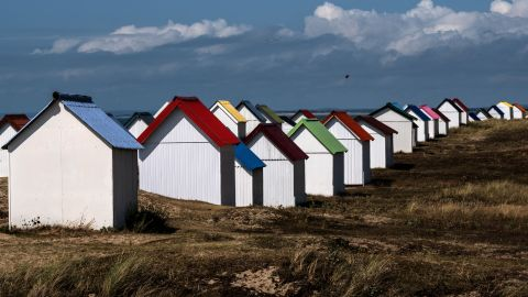 <strong>Gouville-sur-Mer, France</strong>: Pretty beach houses dot the landscape in the little town of Gouville-sur-Mer on France's northwest coast.