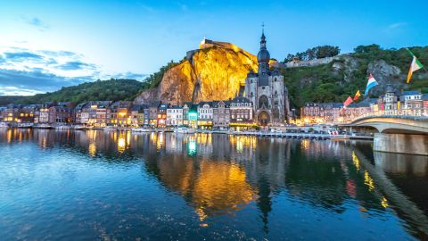 <strong>Dinant, Belgium:</strong> The Walloon town of Dinant sits on the banks of Belgium's River Meuse, around 90 kilometers southeast of Brussels. It's the birthplace of Adolphe Sax, inventor of the saxophone.