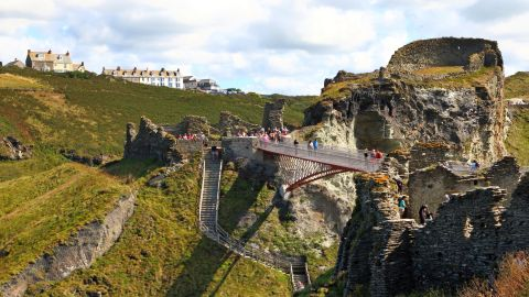 <strong>Cornwall, UK</strong>: In August 2019, a new footbridge opened connecting the two halves of the 13th-century Tintagel Castle. Legend has it that the castle was the site of King Arthur's Camelot. <br />