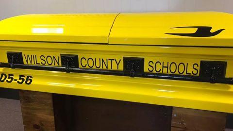 The school bus casket.