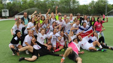 CD Tacón pose after securing promotion to the top division