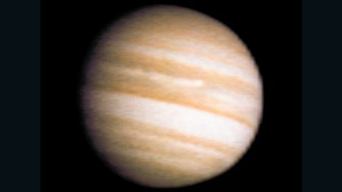 Voyager 2's view of Jupiter during the spacecraft's approach.