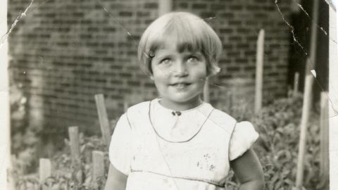 Ginsburg was born Joan Ruth Bader on March 15, 1933. Here she is at 2 years old.