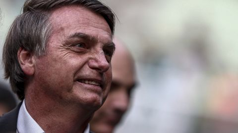 Brazil's far-right president Jair Bolsonaro, seen in Sao Paulo last month.
